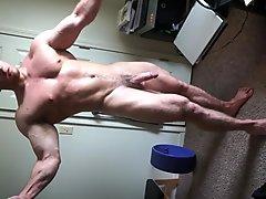 Sexy Straight Stud Flexing
