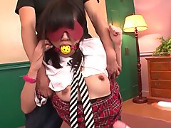 Tight college girl Kotomi Asakura fucked by two males  - More at 69avs com