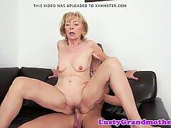 Cum loving granny enjoys sucking dick