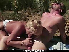 momswithboys - hot milf busty blonde hot outdoor desert sex young boyfriend