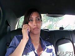Delightful brunette girlfriend Isis Love cums hard