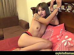Exclusive Scene Thai Teen Nat Fucked In Handcuffs Skinny Hook