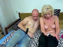 OLDNANNY blonde granny compilation