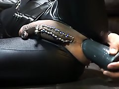 Huge dilldo anal masturbation with B-10 Torpedo