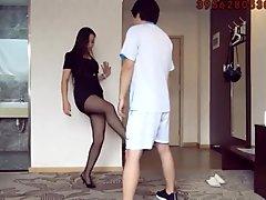 ballbusting chinese girl