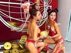 New year asian models celebraty