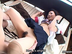 Asian schoolgirl getting fucked by her man